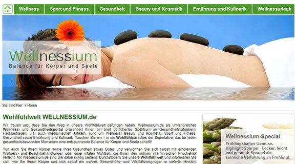 Die Webseite wellnessium.de gilt als die Online-Wohlfühlwelt in Internet